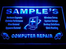 Wholesale DZ059 b Name Personalized Custom Computer Repairs Shop Display Neon Sign