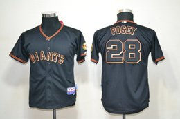 Wholesale MLB San Francisco Giants POSET New Youth Kid s Baseball Jerseys grey white orange black colors Flexbase all sizes MIX ORDER
