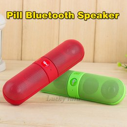 Wholesale New Pill Bluetooth speaker Portable Wireless JHW V318 Speaker Active Speaker Support TF mm Audio Handsfree For Phone7 PC Tablet PA