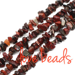 5mm-8mm Natural Flowers Red Irregular Gravel Stone High Quality 80cm Strand Freeform Chips Beads Jewelry Bracelet Making(F00318) wholesale