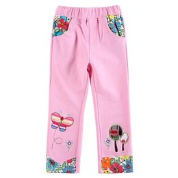 Wholesale Girls trousers pink popular printing fabric soft sweet cute we carefully build for you a better brand