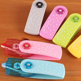 5 pcs lot Free Shipping Cartoon Push Correction Tape With Lace For Key Tags Sign Students Stationery Material Escolar