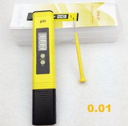 Wholesale 100pcs by dhl fedex Pen LCD Acid aquarium Water Quality salt pool tester pH Meter Acidometer Analyzer with retail box