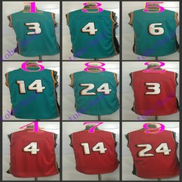 Wholesale b wallace dumars mills jersey green Cheap Rev Basketball Jerseys Embroidery Sportswear Jersey S XL