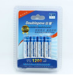 Wholesale Genuine DoublePow AA rechargeable batteries mah NO rechargeable battery NI CD Nickel cadmium Household toy remote control alarm clock