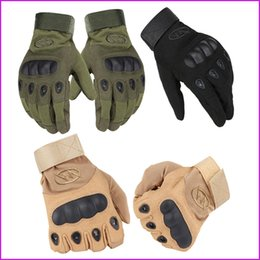 Outdoor Riding hiking climbing training gloves men's gloves armor protection shell full finger gloves, 3 Size, 3 Color