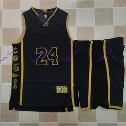 Wholesale 24 kobe bryant retirement memorial Cheap Rev Basketball Jerseys Embroidery Sportswear Jersey S XL