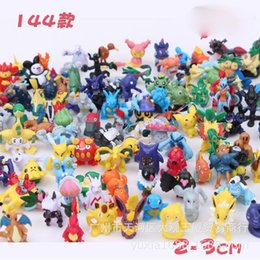 Vente en gros 144pcs / lot Anime Pocket Monster Toys Poke Go Action Figure Mini Pikachu Minifigure Figurines d'action Jouets cadeaux de Noël à partir de fabricateur