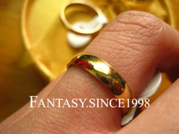 Wholesale 100pcs Gold PL Stainless Steel Polished Wedding Rings 4mm band Wide