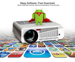 Complète android à vendre-LED 86 LCD Wifi Android 4.4 Portable TV HDMI 3D Smart Projecteur Full HD 1080p Home Theater 3200 Lumens Cinéma Pour Jeux Vidéo TV HDMI AV