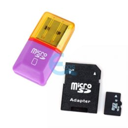 16GB Class 6 Micro SD TF Memory Card With SD Card Adapter + Mini Card Reader #63097