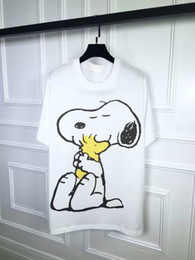 Wholesale 2016 New product Men T shirt snoopy Print New women Sport casual t shirt Men s Short Sleeve luxury brand Clothing