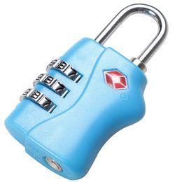 Wholesale Customs Luggage Padlock TSA338 Resettable Digit Combination Padlock Suitcase Pulling rod cases Travel Lock TSA Locks safety equipment