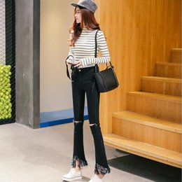 Cut skinny jeans bottom – Global trend jeans models