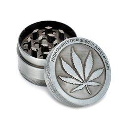Latest Silver Aluminum Alloy Grinders Metal Rasta Tobacco Herb Spice Grinder Smoking Chicha Pipes 3Part Shisha Mini