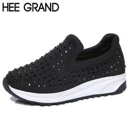Wholesale Casual Shoes Woman Black Red Rhinestone Breathable Fashion Platform Slip ons Shadow Women s Shoes XWC501