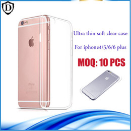 Backcover Ultra Thin TPU For Iphone 6 Case transparent iphone 4 5 6 plus Soft Gel Silicone Case MOQ:10 PCS