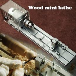 DIY Wood Table Lathe Mini Lathe Machine Mini Beads Plisher Lathe for Cutting and Rounding