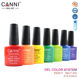 Wholesale 30917X Hot Sale CANNI Easy Soak off UV Gel Nails Varnish Colors ml UV LED Nail Gel Polish