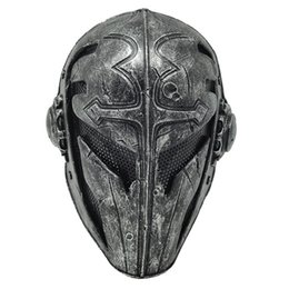 Wholesale Newest Paintball Airsoft Wire Mesh Templar Fabric FRP Mask Templar Hallowmas Cosplay Full Face Helmet Mask