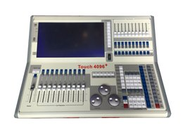 Wholesale RASHA NEW ARRIVAL TITAN V8 TOUCH4096 DMX Controller With Flight Case Stage DMX Controller System DMX Console