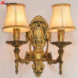 Wholesale Antique bronze wall sconce Light fashion bedroom bedside lamp antique Wall Light Modern