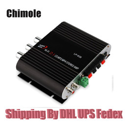 Wholesale Lepy LP Silver Mini HIFI CH Bass Stereo Audio Car Home MP3 Amplifier Power AMP W W