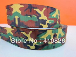 ribbon 7 8inch 22mm camouflage printed grosgrain ribbon webbing 50yards roll for hair tie free shipping