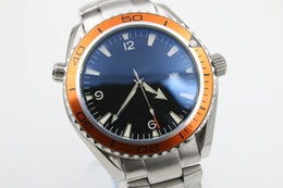 brand new watch men automatic mechanical hand wind waches Co-Axial planet ocean watch orange bezel watches men dress wristwatches