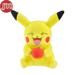 Wholesale New Pikachu Plush Toy with Apple Soft Doll Animal Cuddly Gift for Baby Large quot Anime Brinquedos Dollhouse