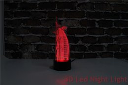 Wholesale Burj Al Arab Hotel Souvenir D Led Living Room Indoor Night Lighting with FCC and RoHS Certificate YJM