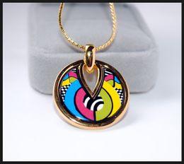 Allen Memorial Series Necklaces18K gold-plated enamel necklaces Top quality drop-shaped pendant necklaces collier