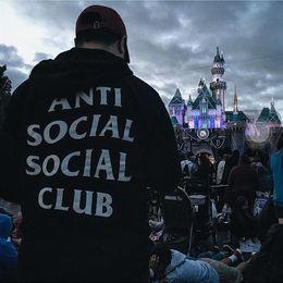 Wholesale 2016 New Designer anti social social club printed Hoodies Men Sweatshirts Slim Fit Hooded Pullover Sportswear Sweatshirt men Tracksuits