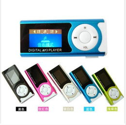 LCD mini sport MP3 music players and LCD panel support micro SD memory card + USB cable + TF headphones with crystal retail box