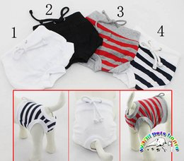 Black white red dog panty cotton pants for dogs dog trousers sanitary dog puppy underwear panty
