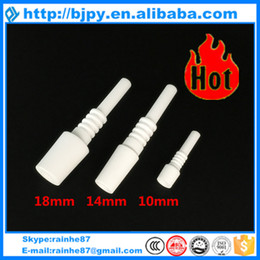 (wholesale best price) 10mm 14mm 18mm domeless ceramic nail fit nectar nail collector kit smoking glass pipe