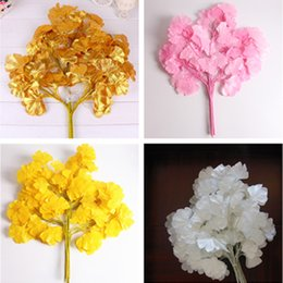 Wholesale silk flowers trees canada best selling wholesale silk hot sale 12pcs bag ginkgo biloba tree leaf leaves artificial silk flower branch for wedding home office diy decoration mightylinksfo