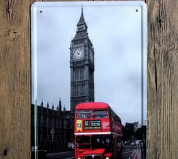Wholesale England Big Ben Creative posters cm Wall Stickers decorative sheet metal painting decorative crafts and gifts