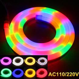 Wholesale Outdoor LED flexible Neon sign strip soft tube lights RGB leds m AC V V building bridge decotation LED Sign
