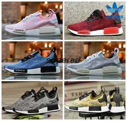 Wholesale 2016 Adidas NMD Runner Primeknit Camo Pack Yellow Blue Pink Men Women Running Shoes Sneakers Originals Classic Super Star Casual Shoes