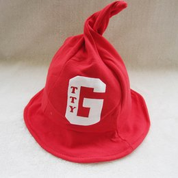 Wholesale Korean version of the new winter fashion for boy girl baby children hat letter G magic pointy wizard Infant s beanies Headwear