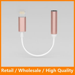 Wholesale iPhone Plus Earphone Headphone Cable Adapter iPhone IOS Interface to mm Female Jack Aux Audio Cable