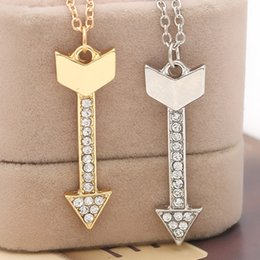 Wholesale 2016 father s day Eros Cupid Arrow Charms Pendant Valentine Women Men couple Necklace Best Gift Valentine s Day ZJ