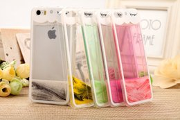 Heart Liquid Cell Phone Case Transparent Phone Cover TPU Silicone Silm Back Cover DHL Fast Shipping