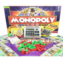 Wholesale 2016 Board Game MONOPOLY For Children Toys Card Game Magic Trading Cards Board Games Shopping Season Classical Monopoly Deal card game