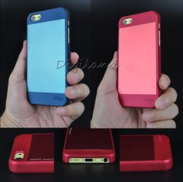Wholesale Iphone C Luxury Hard Plastic Matte Frosted Back case assembled with Polished Aluminum sheet three colors Brand New