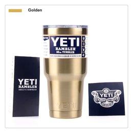 Wholesale 30oz color cup like Yeti Travel Vehicle Rambler Tumbler Cars Beer Bilayer Vacuum Insulated Stainless Steel YETI Mugs Amazon