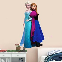 Frozen Wall Stickers Frozen Movie Cartoon Wall Stickers Kids Room Nursery Wall Decals Cartoon Wallpaper Kids Frozen Decoration