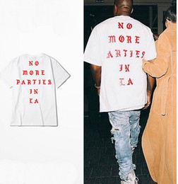 Wholesale S XXXL Kanye West life of Pablo Losangeles LA yeezus season white t shirt men no more parties in LA