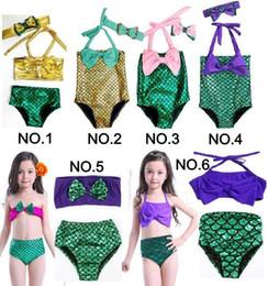 Kids Swimming Bikinis Set Two Pieces Baby Girls Bathing Suit Baby Girls Mermaid Swimwear Bathing Suit